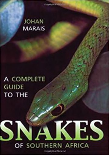 [Free] Donwload A Complete Guide to Snakes of Southern Africa -  Populer ebook