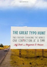 Best PDF The Great Typo Hunt: Two Friends Changing the World, One Correction at a Time -  [FREE] Registrer