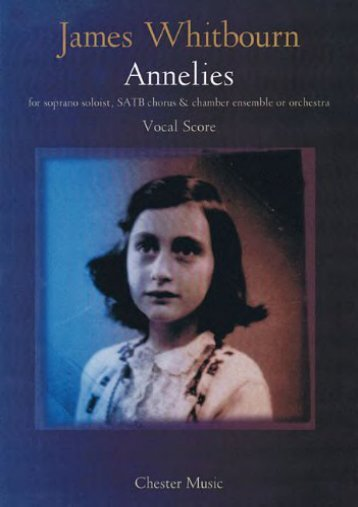 [Free] Donwload James Whitbourn: Annelies (Vocal Score) -  Populer ebook - By James Whitbourn