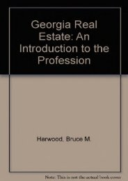 Unlimited Ebook Georgia Real Estate: An Introduction to the Profession -  For Ipad - By Bruce M. Harwood