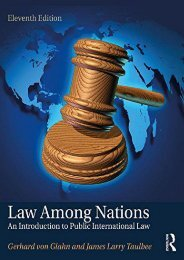 Read PDF Law Among Nations: An Introduction to Public International Law -  Unlimed acces book - By Gerhard von Glahn