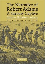 Read PDF The Narrative of Robert Adams, A Barbary Captive: A Critical Edition -  For Ipad
