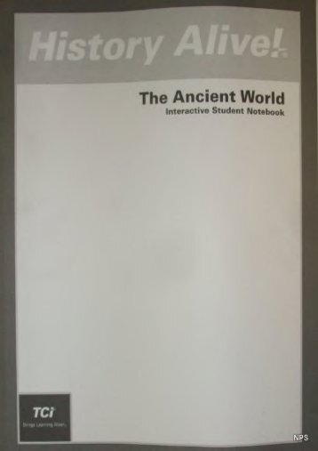 Full Download History Alive!: The Ancient World (Interactive Student Notebook) -  [FREE] Registrer - By Bert Bower