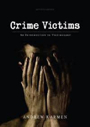 Unlimited Read and Download Crime Victims: An Introduction to Victimology 7th (seventh) edition -  Populer ebook - By