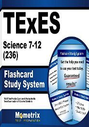 Best PDF Texes Science 7-12 (236) Flashcard Study System: Texes Test Practice Questions and Review for the Texas Examinations of Educator Standards -  Best book - By