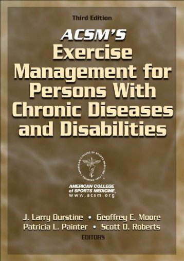 Unlimited Read and Download Acsms Exercise Management for Persons -  Populer ebook - By Acsm