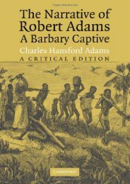 Read PDF The Narrative of Robert Adams, A Barbary Captive: A Critical Edition -  Best book