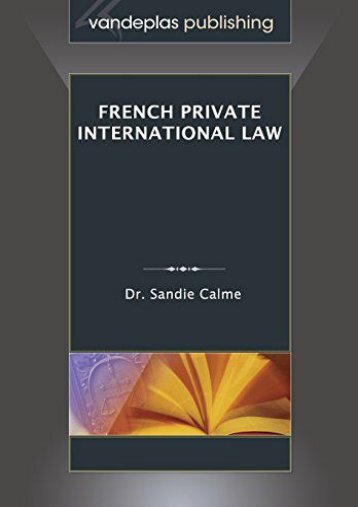 [Free] Donwload French Private International Law -  For Ipad - By Sandie Calme