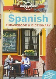 Unlimited Ebook Lonely Planet Spanish Phrasebook   Dictionary (Lonely Planet Phrasebook and Dictionary) -  Populer ebook - By Lonely Planet