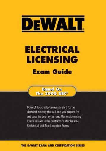 Full Download Dewalt Electrical Licensing Exam Guide -  Best book - By Ray Holder