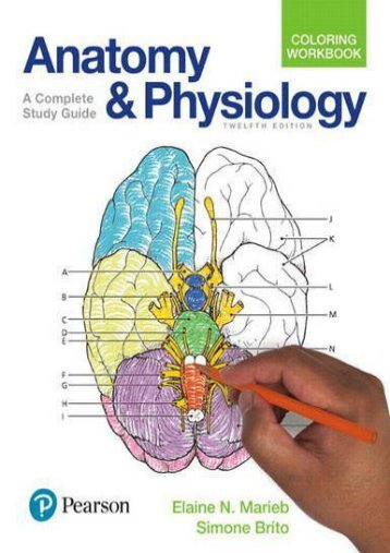 [Free] Donwload Anatomy and Physiology Coloring Workbook: A Complete Study Guide -  Unlimed acces book - By Elaine N. Marieb