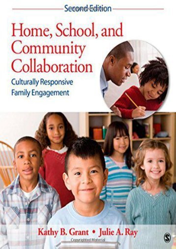 Read PDF Home, School, and Community Collaboration: Culturally Responsive Family Engagement -  Best book - By Kathy Beth Grant