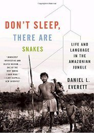 Download Ebook Don t Sleep, There Are Snakes: Life and Language in the Amazonian Jungle (Vintage Departures) -  Unlimed acces book