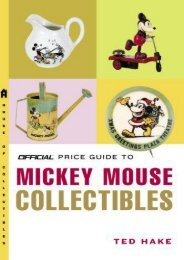 The Official Price Guide to Mickey Mouse Collectibles (Ted Hake)