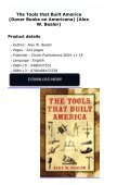 The Tools that Built America (Dover Books on Americana) (Alex W. Bealer) - Page 2