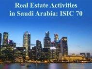 Real Estate Activities in Saudi Arabia: ISIC 70
