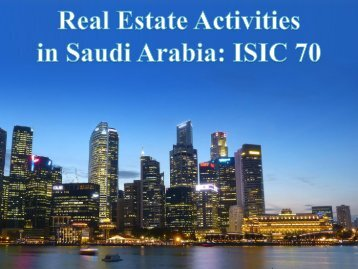 Real Estate Activities in Saudi Arabia: ISIC 70