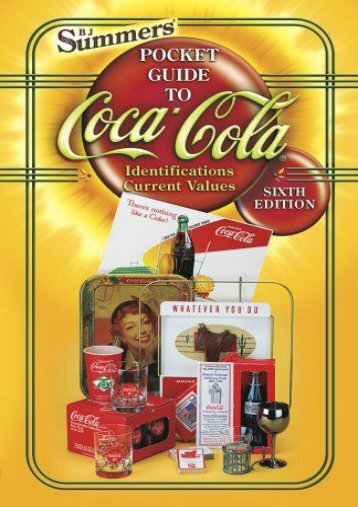 B.J. Summers  Pocket Guide to Coca-Cola (B J Summers)