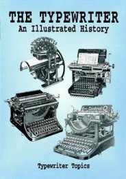 The Typewriter: An Illustrated HIstory (Dover Pictorial Archive Series) (Typewriter Topics)