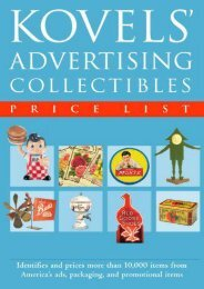 Kovels  Advertising Collectibles Price List (Ralph Kovel)