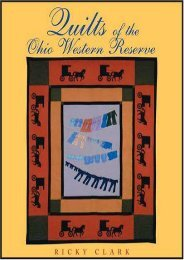 Quilts of the Ohio Western Reserve (Ohio Quilt Series) (Ricky Clark)