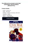 The Official Price Guide to Civil War Collectibles: Second Edition (Richard Friz) - Page 2