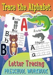 Trace the Alphabet Letter Tracing Preschool Workbook (Kid s Educational Activity Books) (Volume 5) (Lilt Kids Coloring Books)