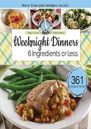 Weeknight Dinners 6 Ingredients or Less (Keep It Simple) (Gooseberry Patch)