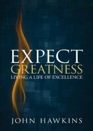 Expect Greatness: Living a Life of Excellence (John Hawkins)
