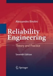 Reliability Engineering: Theory and Practice (Alessandro Birolini)