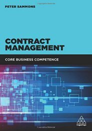 Contract Management: Core Business Competence (Peter Sammons)