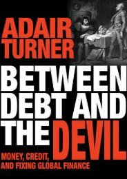 Between Debt and the Devil: Money, Credit, and Fixing Global Finance (Adair Turner)
