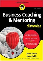 Business Coaching   Mentoring For Dummies (Marie Taylor)