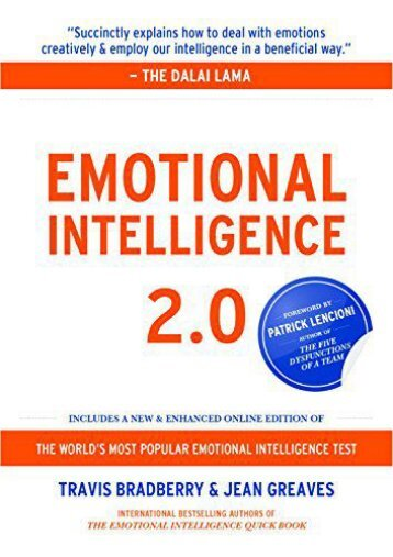 Emotional Intelligence 2.0 (Travis Bradberry)