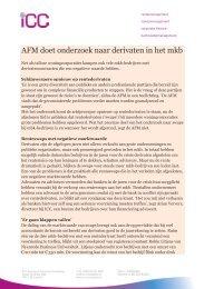 AFM doet onderzoek naar derivaten in het mkb