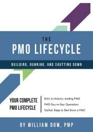 The PMO Lifecycle: Building, Running, and Shutting Down (Mr William Dow)