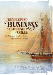 Developing Business Leadership Skills: A Practical Guide to Being Effectively In-Charge (Col John Boggs)