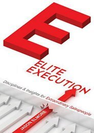 Elite Execution: Disciplines   Insights for Extraordinary Salespeople (Jason Elmore)