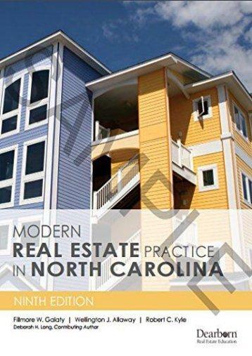Modern Real Estate Practice in North Carolina (Fillmore W. Galaty)