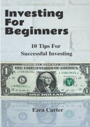 Investing For Beginners: 10 Tips For Successful Investing (Investing, Money, Finance for Beginners, Investing Successfully) (Ezra Carter)
