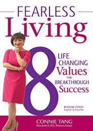 Fearless Living: 8 Life-Changing Values to Breakthrough Success (Connie Tang)