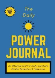 The Daily Power Journal - Deep Blue Cover: A Powerful Tool For Personal Transformation, Productivity, Happiness   Daily Gratitude, 6