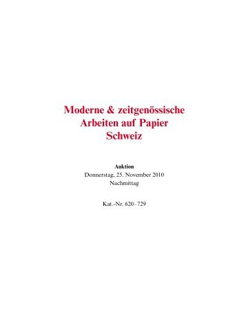 Moderne & zeitgenössische Arbeiten auf Papier Schweiz