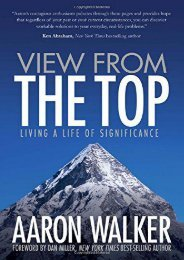 View From the Top: Living a Life of Significance (Aaron Walker)