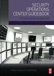 Security Operations Center Guidebook: A Practical Guide for a Successful SOC (Gregory Jarpey)