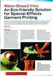 Screen Print Article - Water-Based Inks: Special Effects - Iccink.com