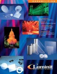 Capabilities Brochure - Luminit