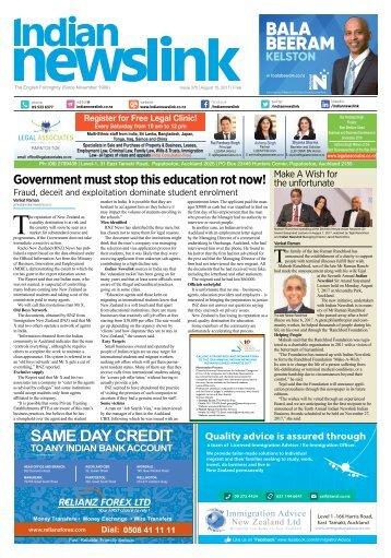 Indian Newslink August 15, 2017 Digital Edition