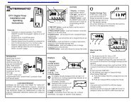 DT11 timer manual - Water Heater Timers Save Money
