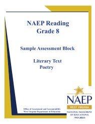 NAEP Reading Grade 8 - West Virginia Department of Education